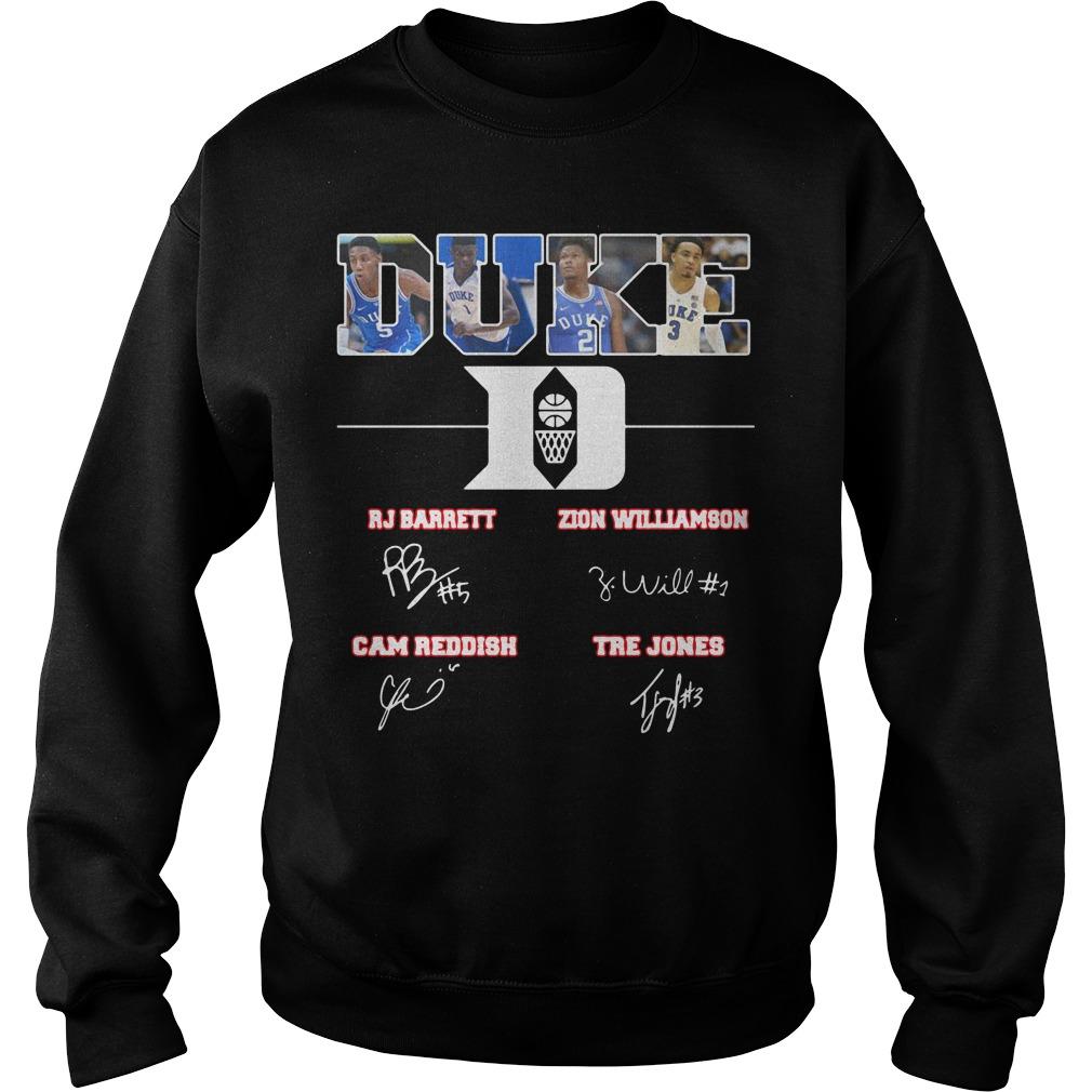 Duke Blue Devils RJ Barrett Zion Williamson Cam Reddish Tre Jones Sweater