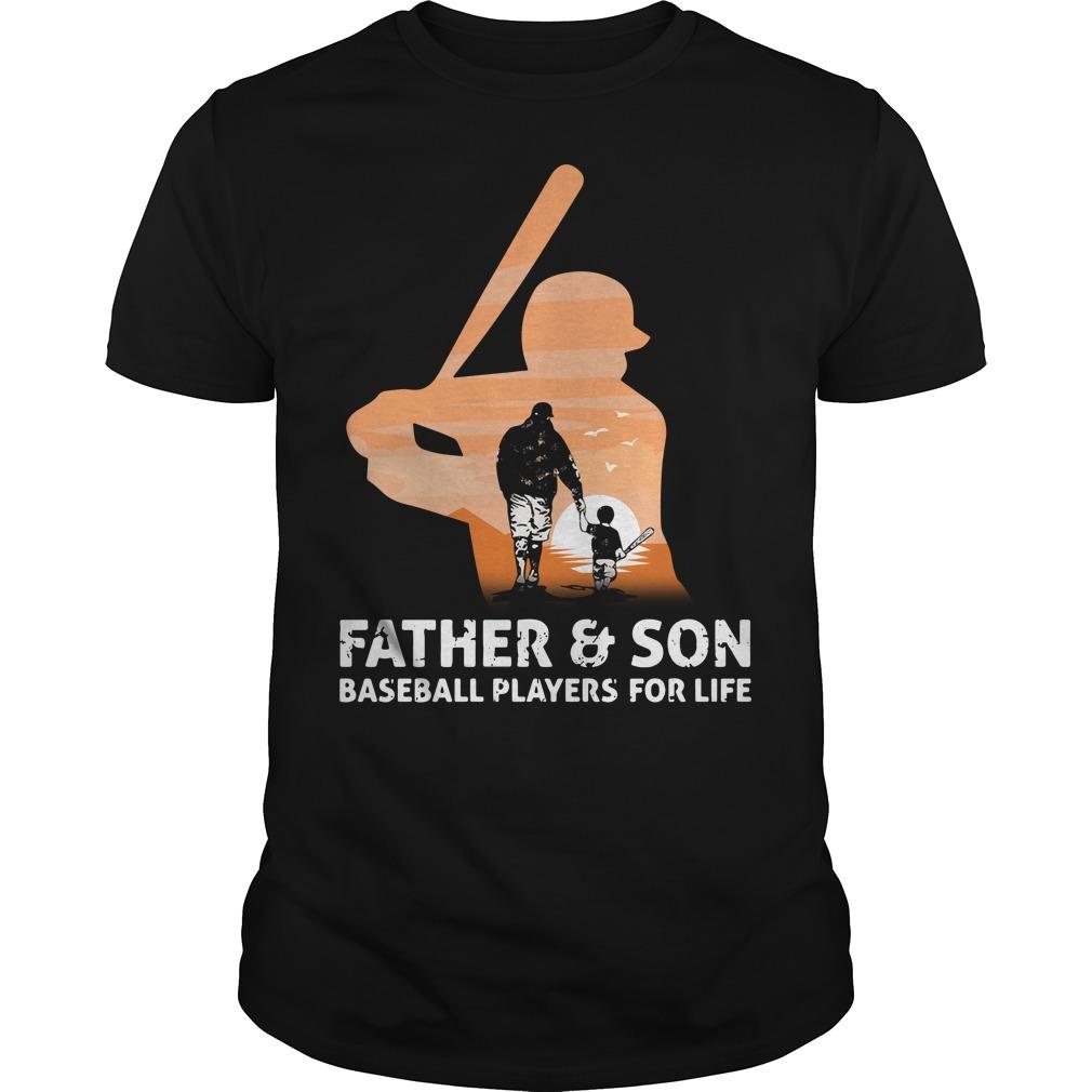 Father and Son baseball players for life Guys Shirt
