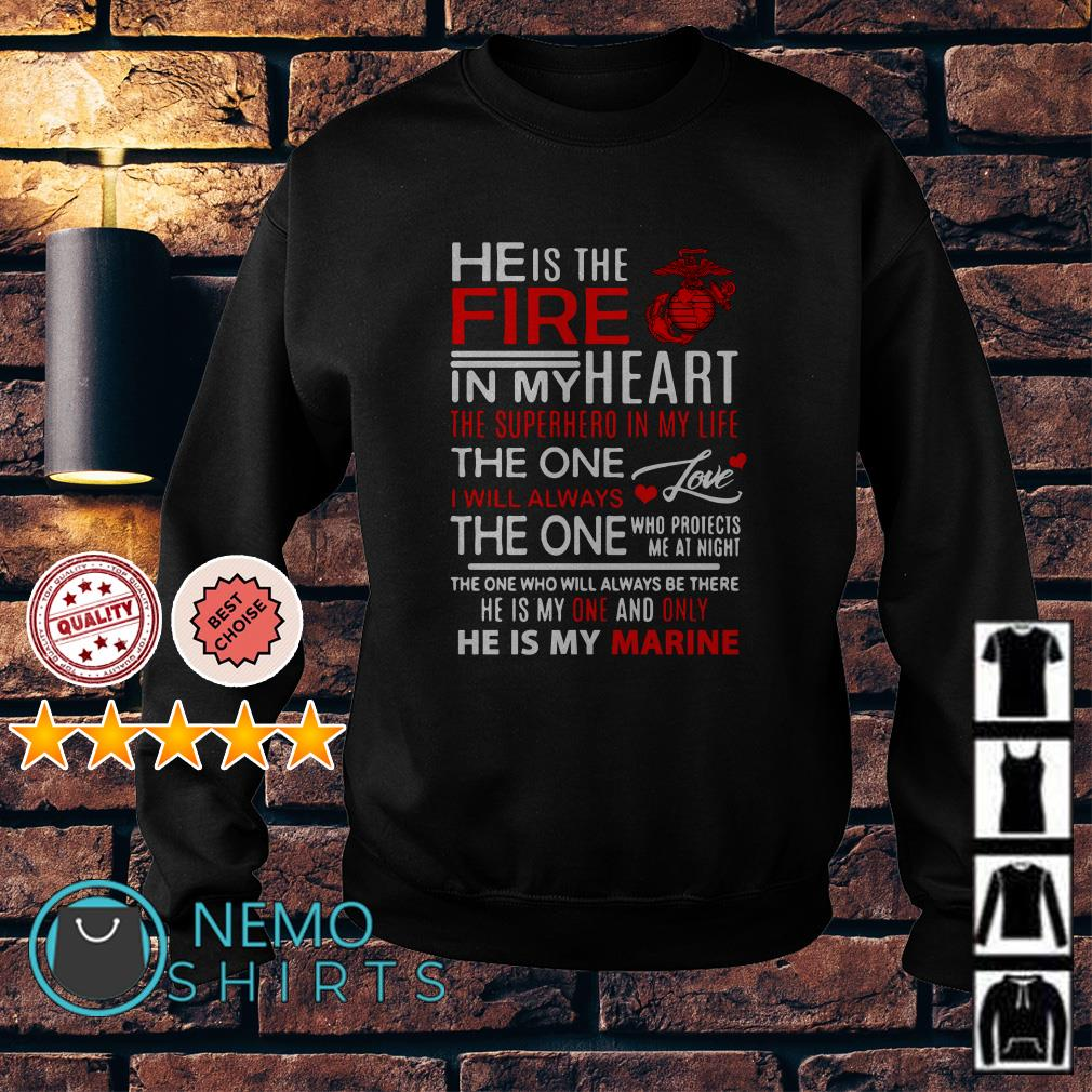 He is the fire in my heart the superhero in my life Sweater