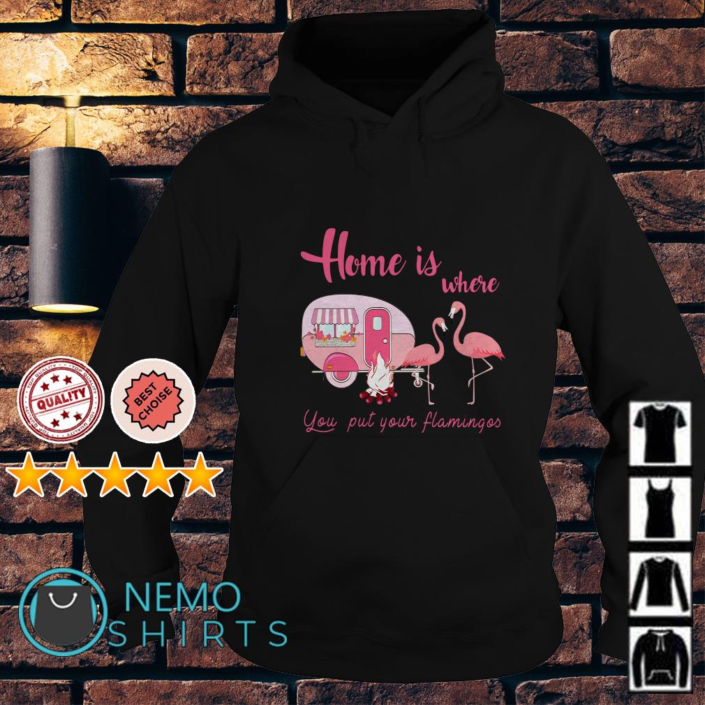 Flamingos camping home is where you put your flamingos Hoodie