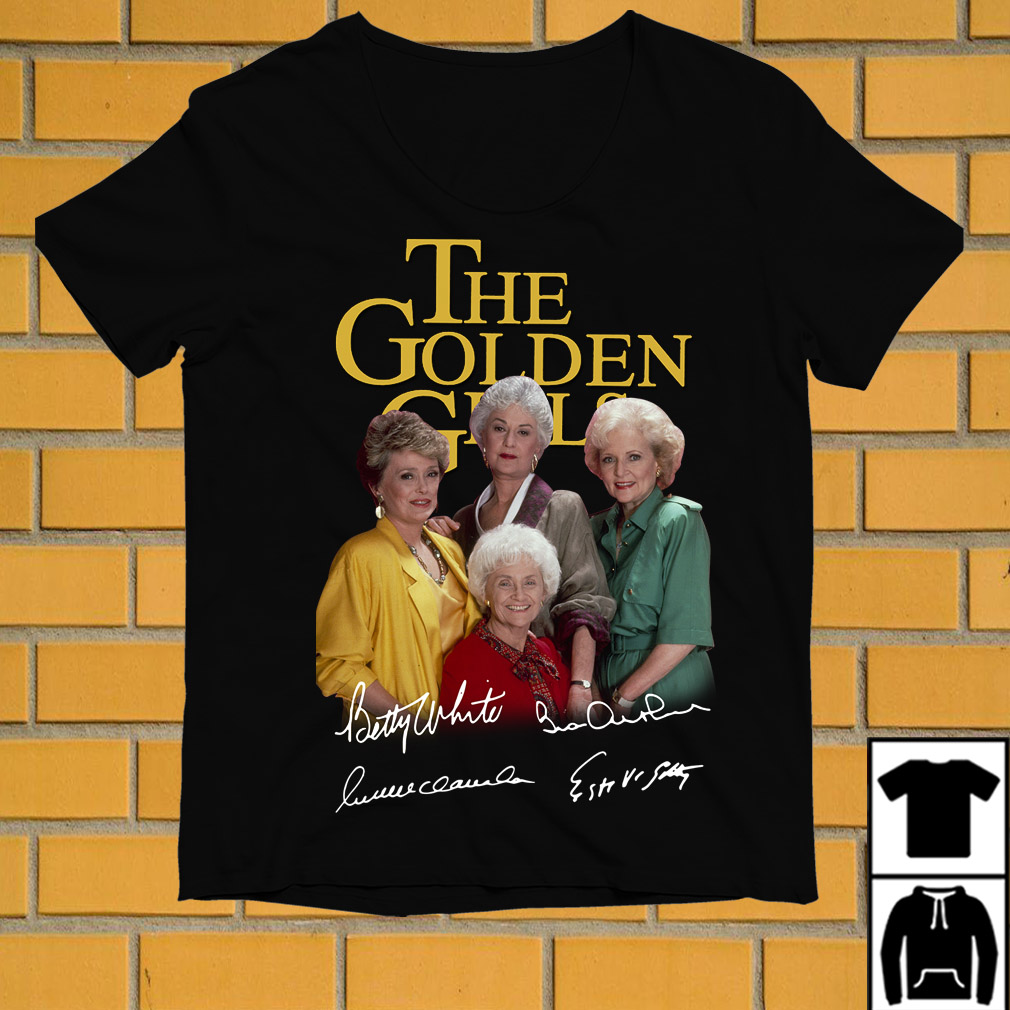 The Golden Girls members signatures shirt