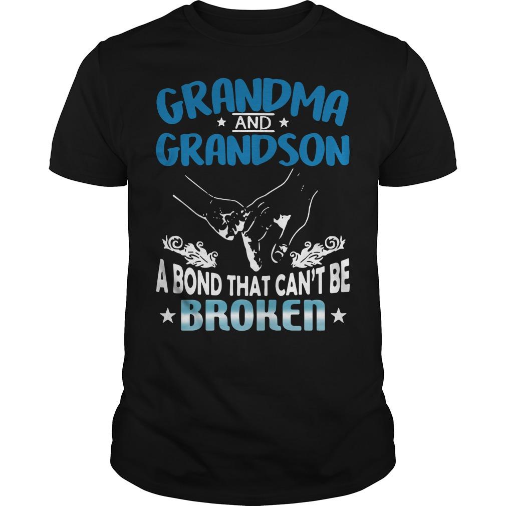 Grandma and Grandson a bond that can't be broken Guys Shirt