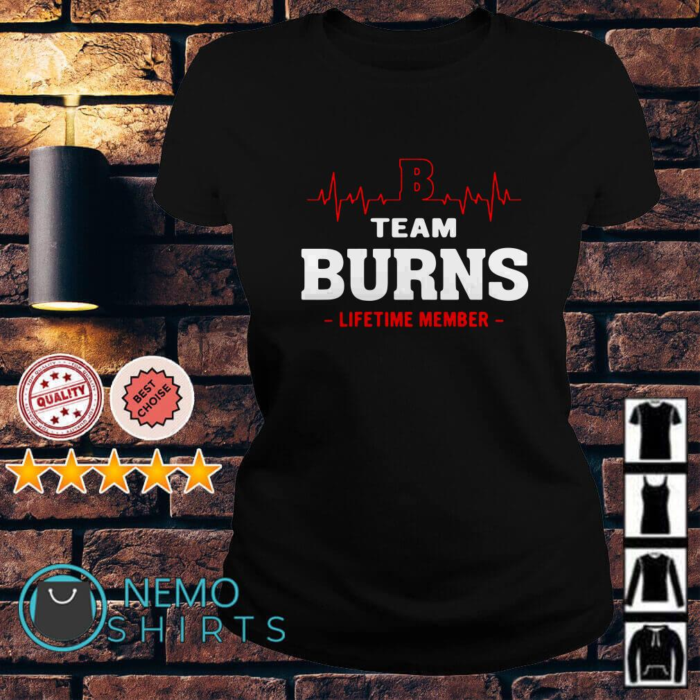 Heartbeat B team Burns lifetime member Ladies tee