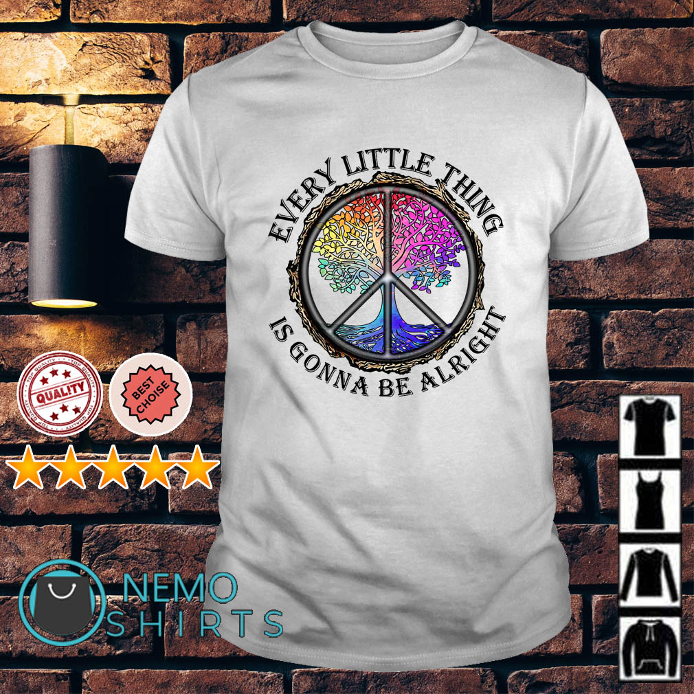 Hippie tree every little thing is gonna be alright Guys shirt