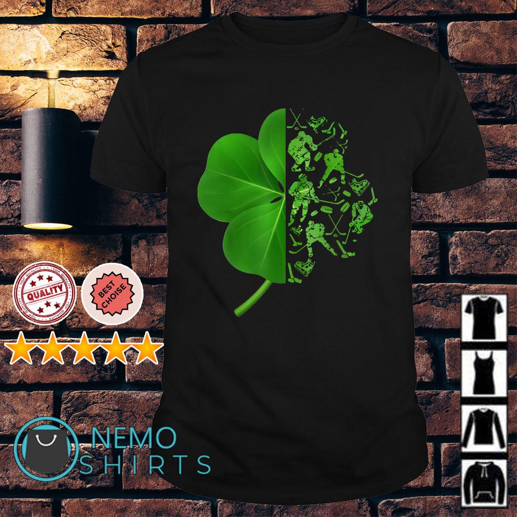 Irish leaf Hockey man shirt