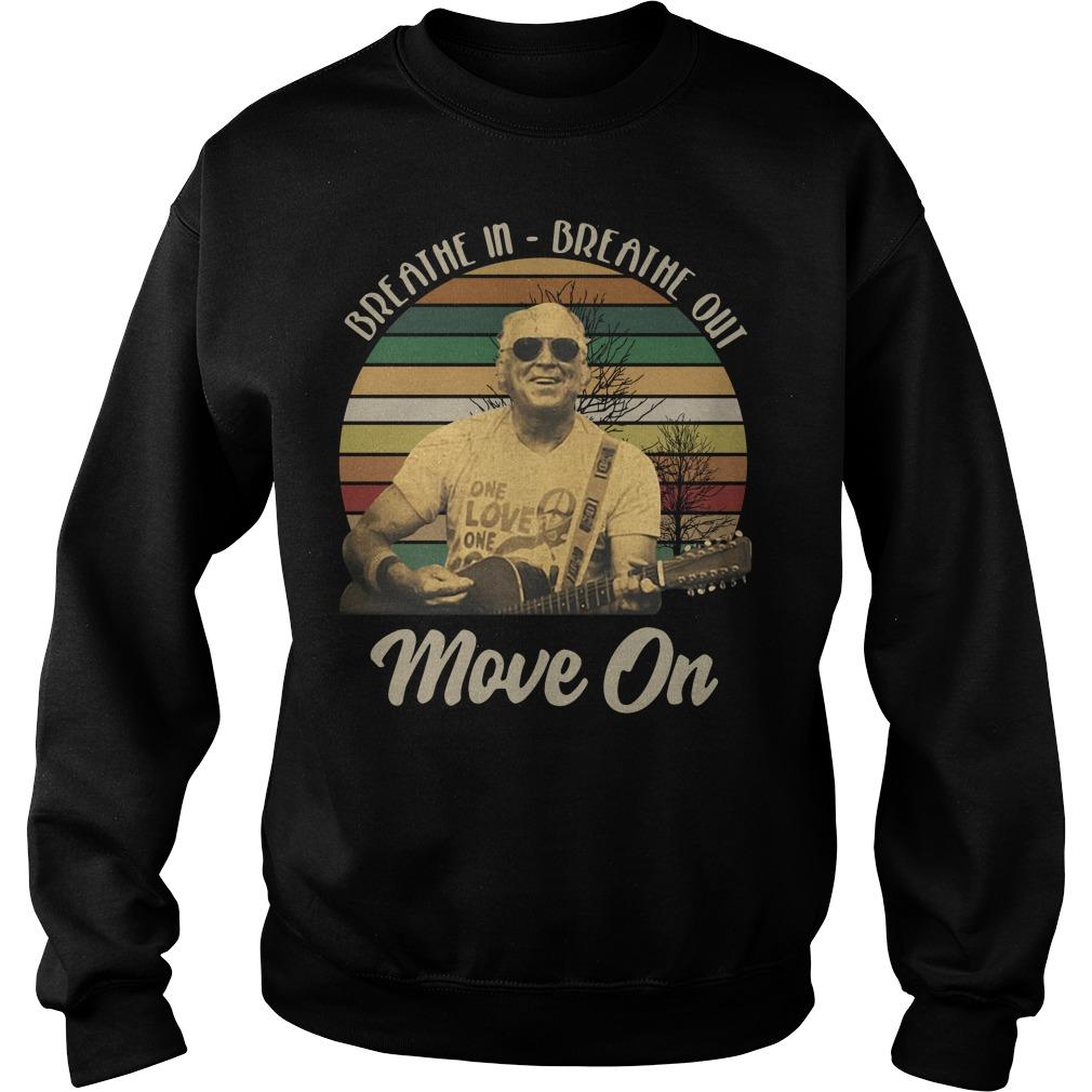 Jimmy Buffett Breathe in breathe out move on vintage Sweater