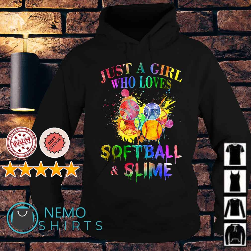 Just a girl who loves softball and smile Hoodie