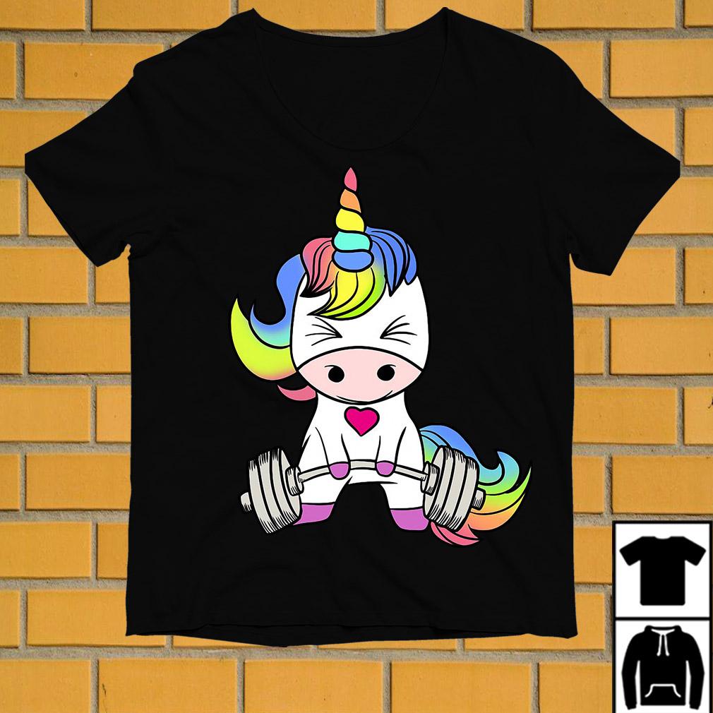 Lgbt Unicorn weightlifting fitness gym shirt
