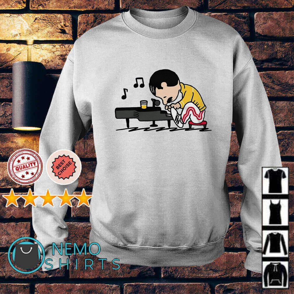 Queenuts Queens Freddie Mercury in the style of Peanuts Sweater
