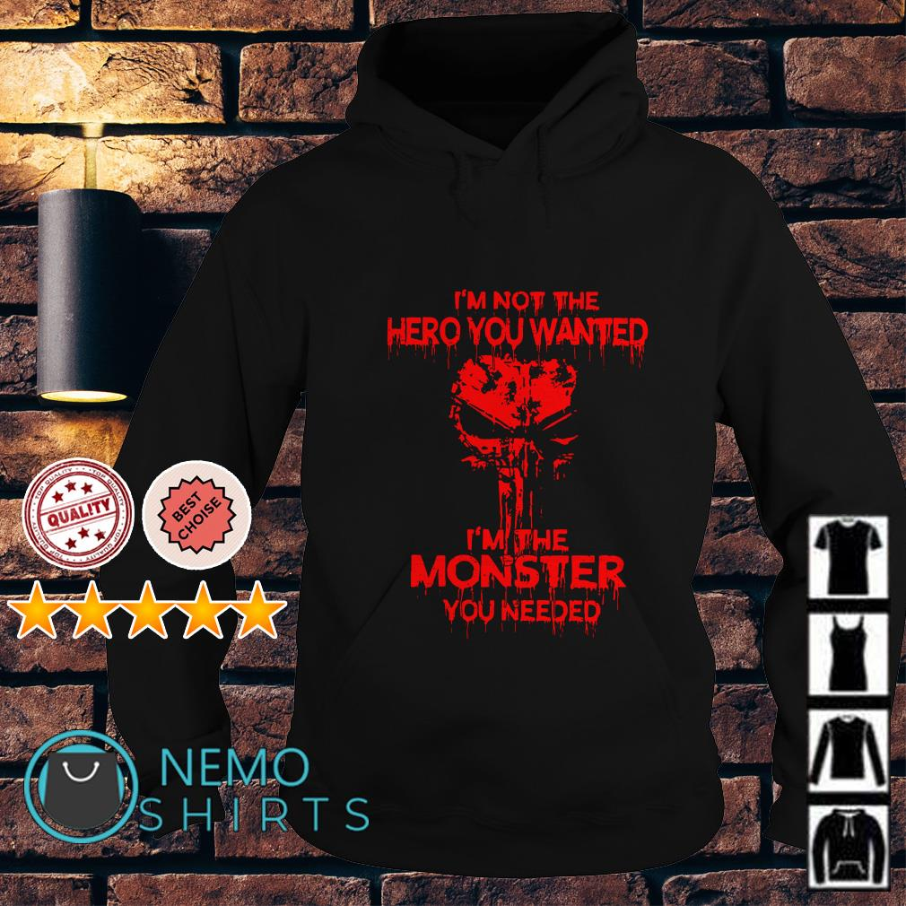 Skull I'm not the hero you wanted I'm the monster you needed Hoodie