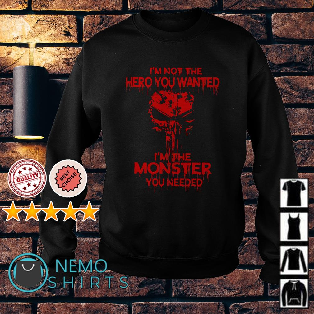 Skull I'm not the hero you wanted I'm the monster you needed Sweater