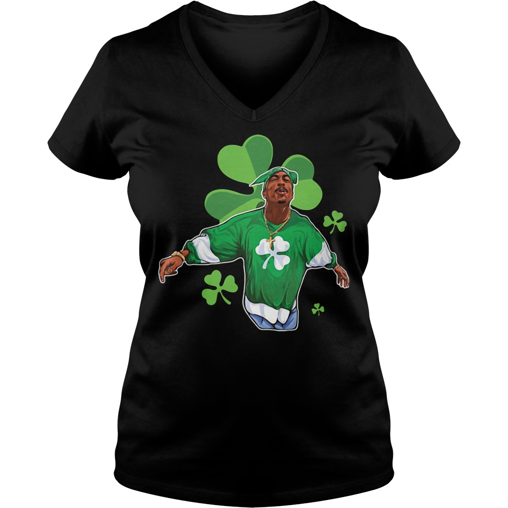 Snoop Dogg Shamrock St Patrick's day V-neck T-shirt