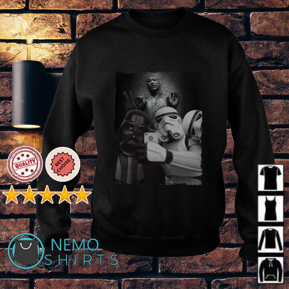 Star Wars Stormtrooper and Darth Vader selfie with Nerf Herder Sweater