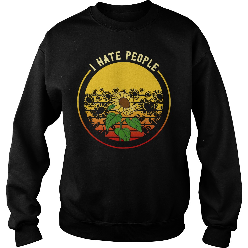 Sunflower I hate people vintage Sweater