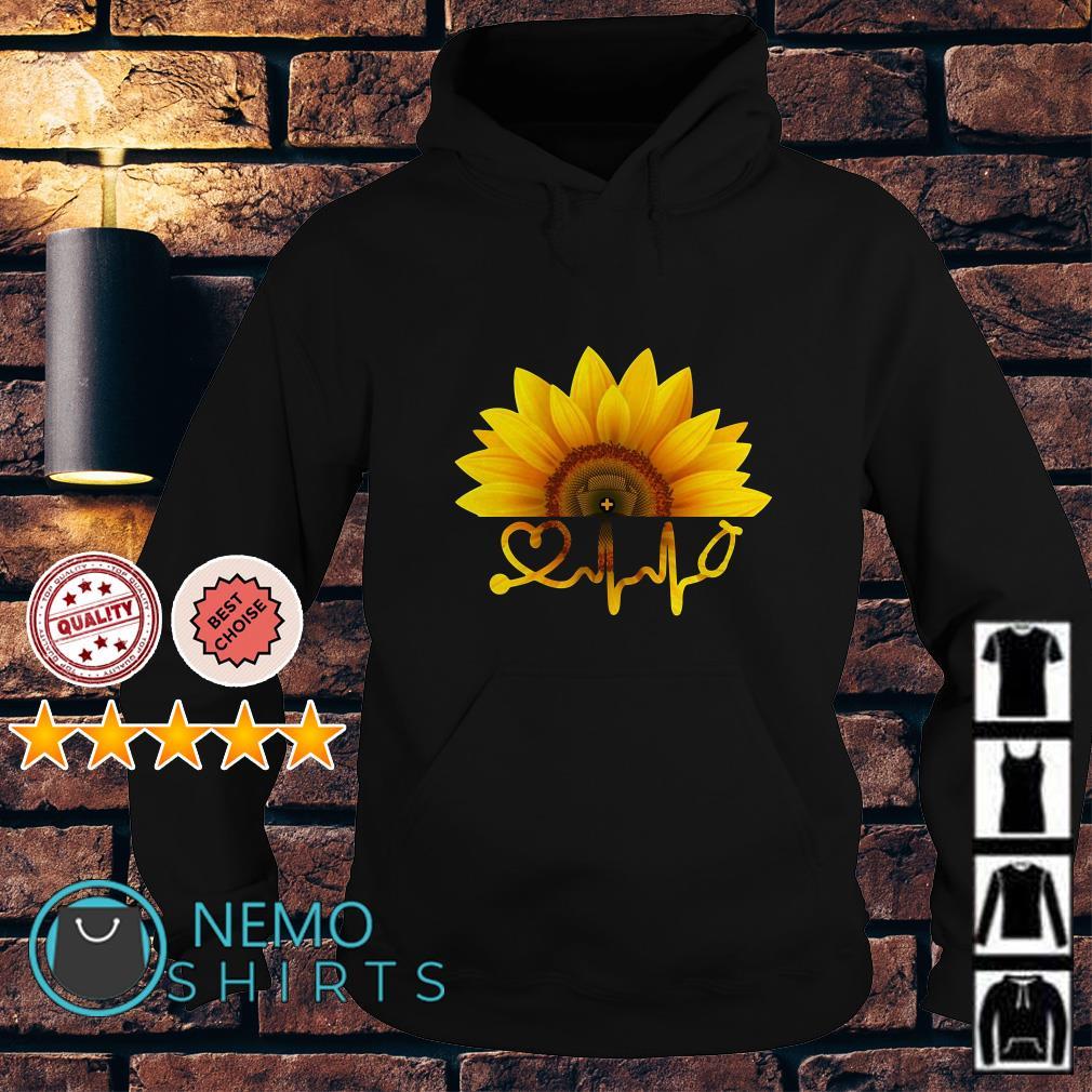 Sunflower nurse heartbeat Hoodie