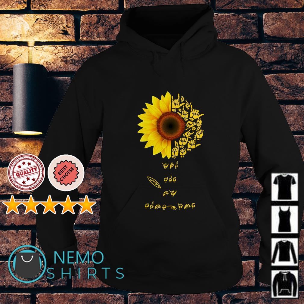 Sunflower Sign Language Lovers Hoodie