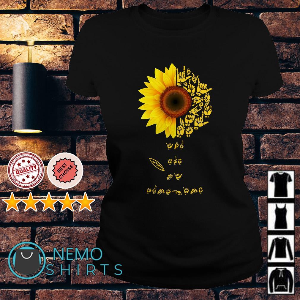Sunflower Sign Language Lovers Ladies Tee