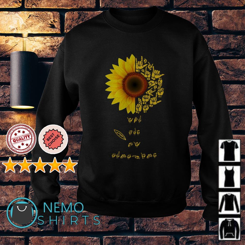 Sunflower Sign Language Lovers Sweater