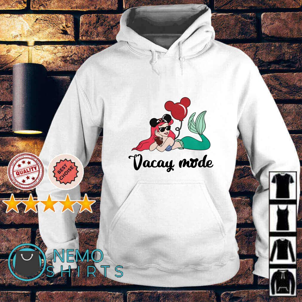 Ariel The Little Mermaid Loves Mickey Mouse Vacay Mode Hoodie