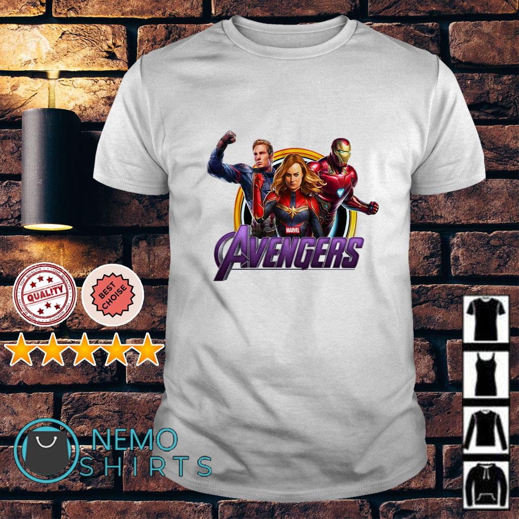Avenger Endgame Captain Marvel Iron Man and Captain America shirt