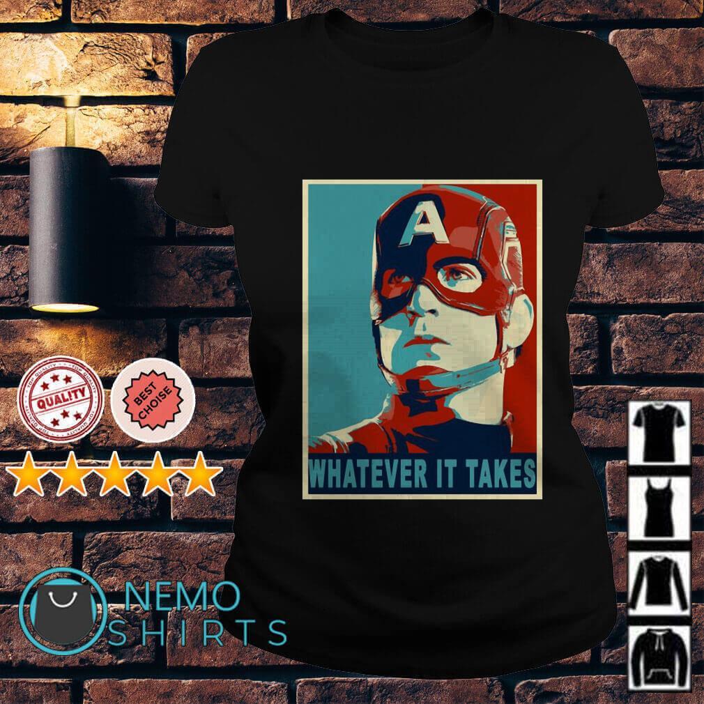 Avengers Captain America whatever it takes Ladies tee
