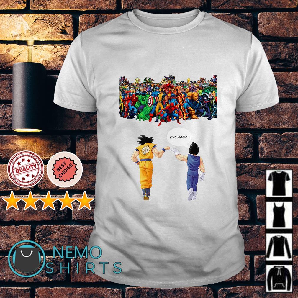 Avengers great war Son Goku and Vegeta endgame shirt