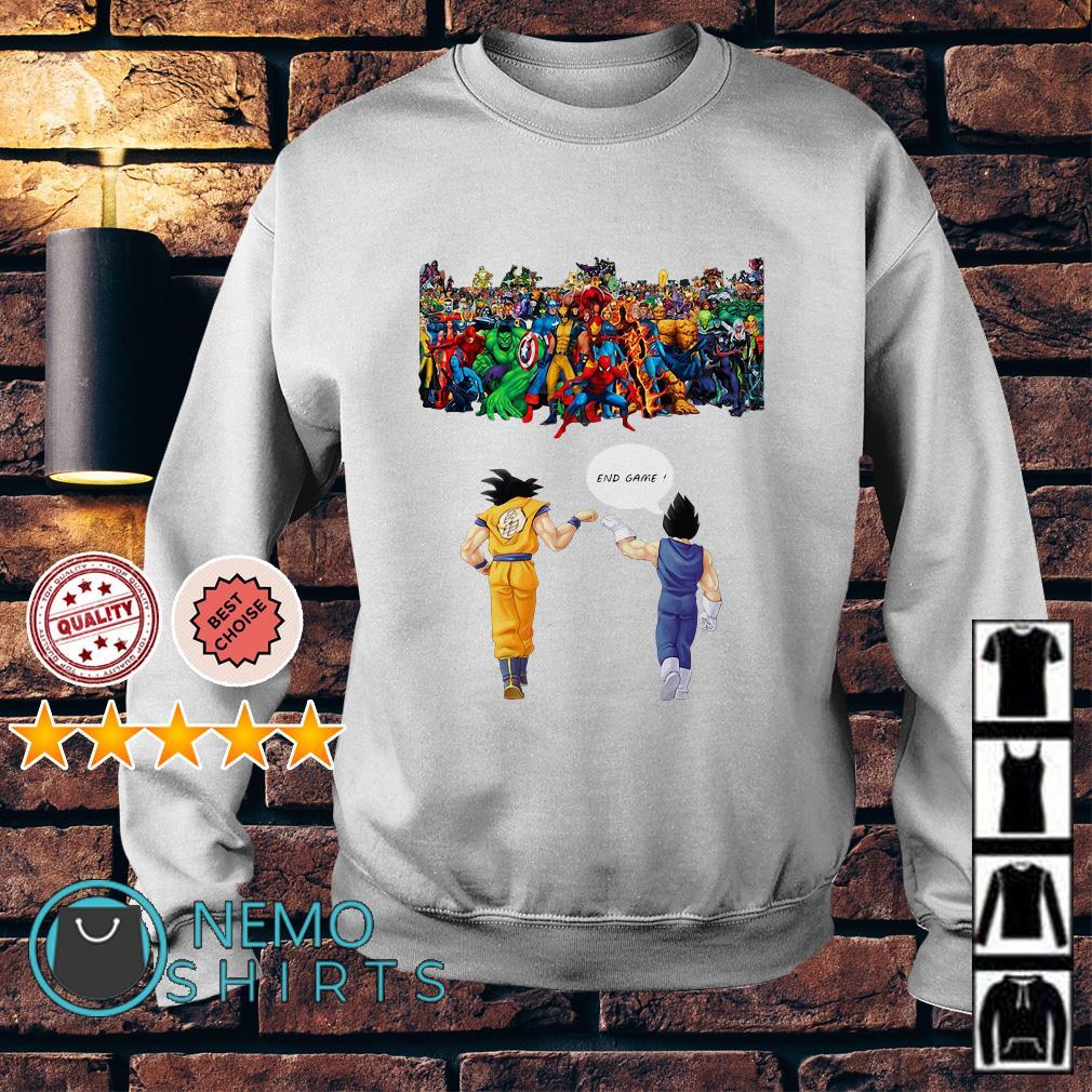 Avengers great war Son Goku and Vegeta endgame Sweater