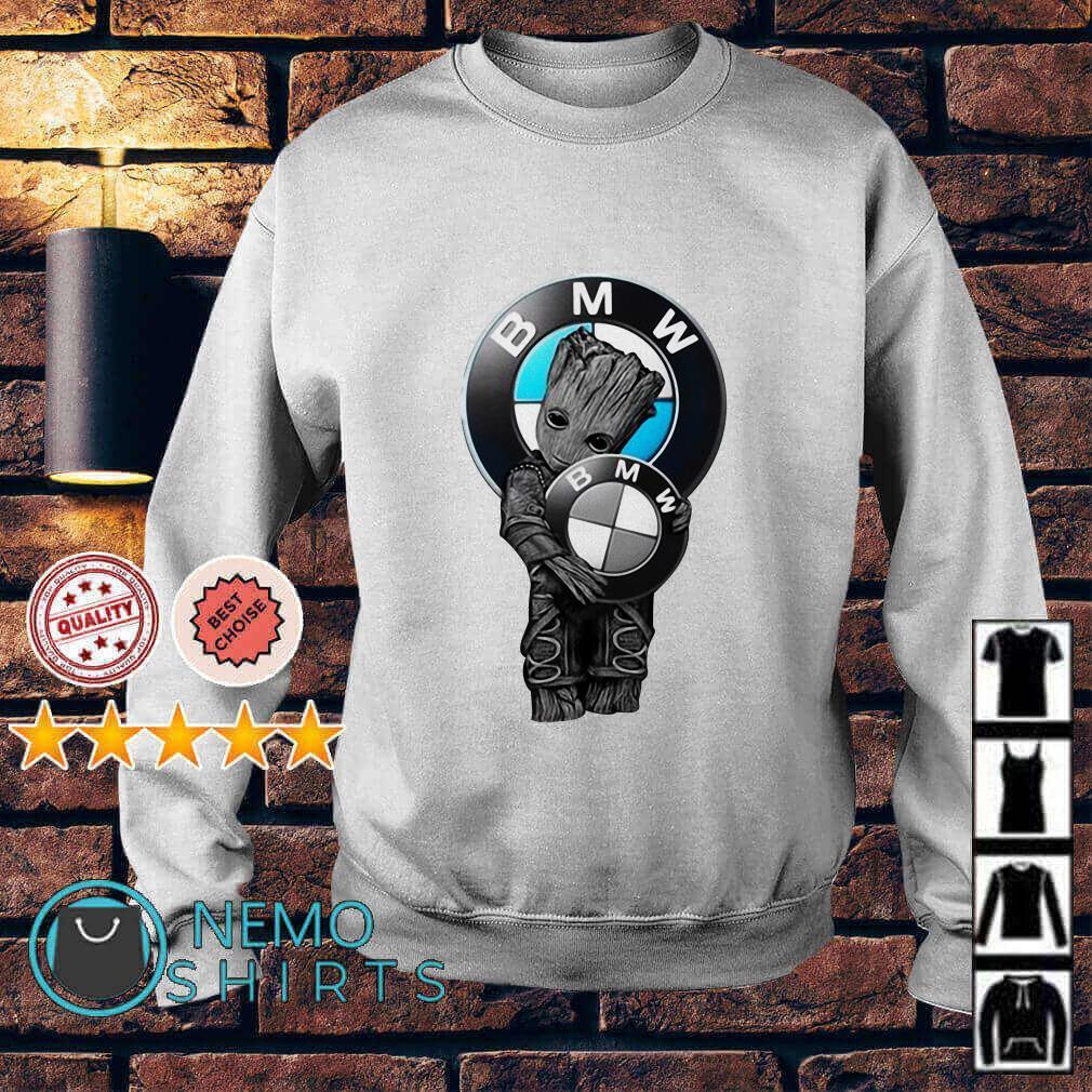 Baby Groot hugs BMW logo Sweater