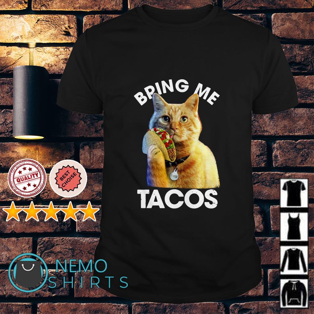 Captain Marvel Goose the cat Bring me tacos shirt