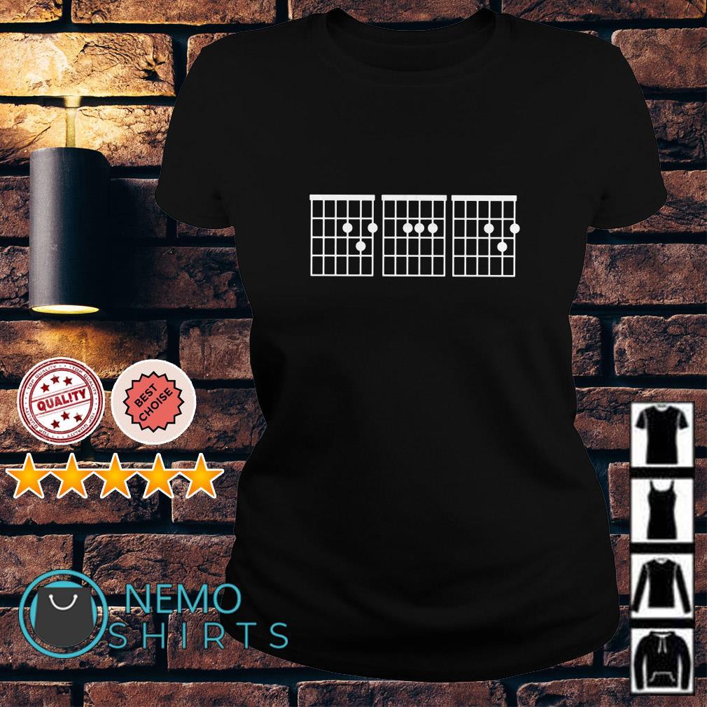 Dad Guitar Chords Ladies tee