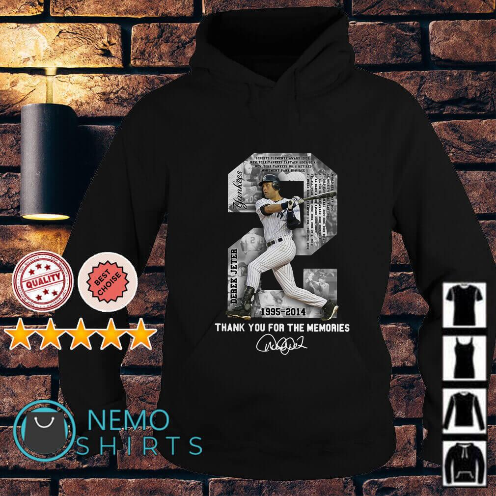 Derek Jeter MLB 1995 2014 Thank For The Memories Hoodie