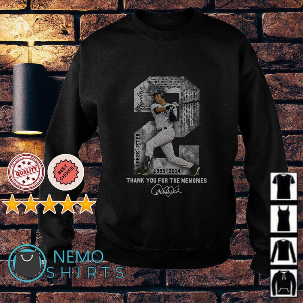 Derek Jeter MLB 1995 2014 Thank For The Memories Sweater