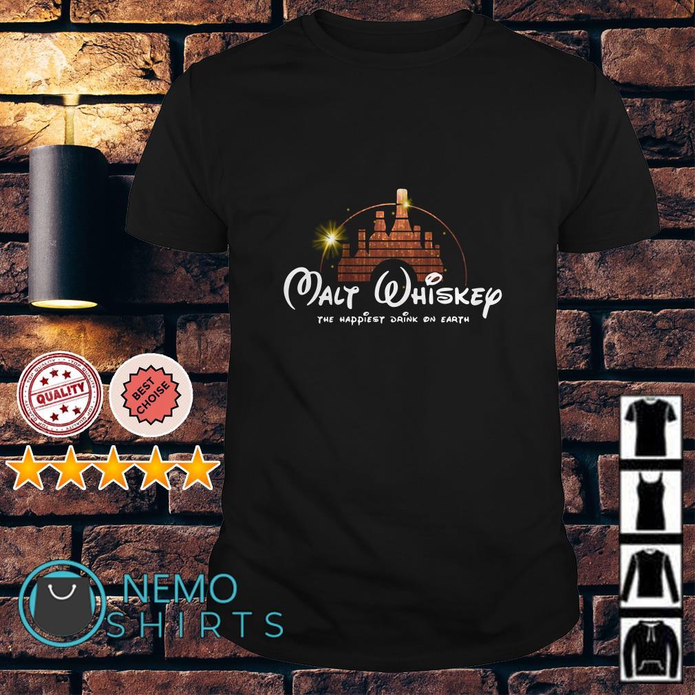 Disney Malt Whiskey the happiest drink on earth shirt