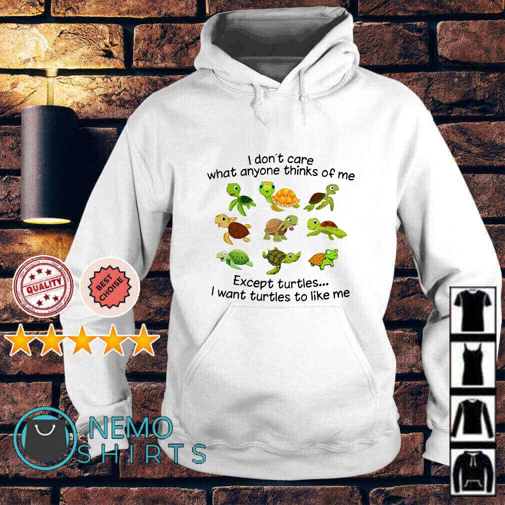 I don't care what anyone thinks of me except turtles I want turtles to like me Hoodie