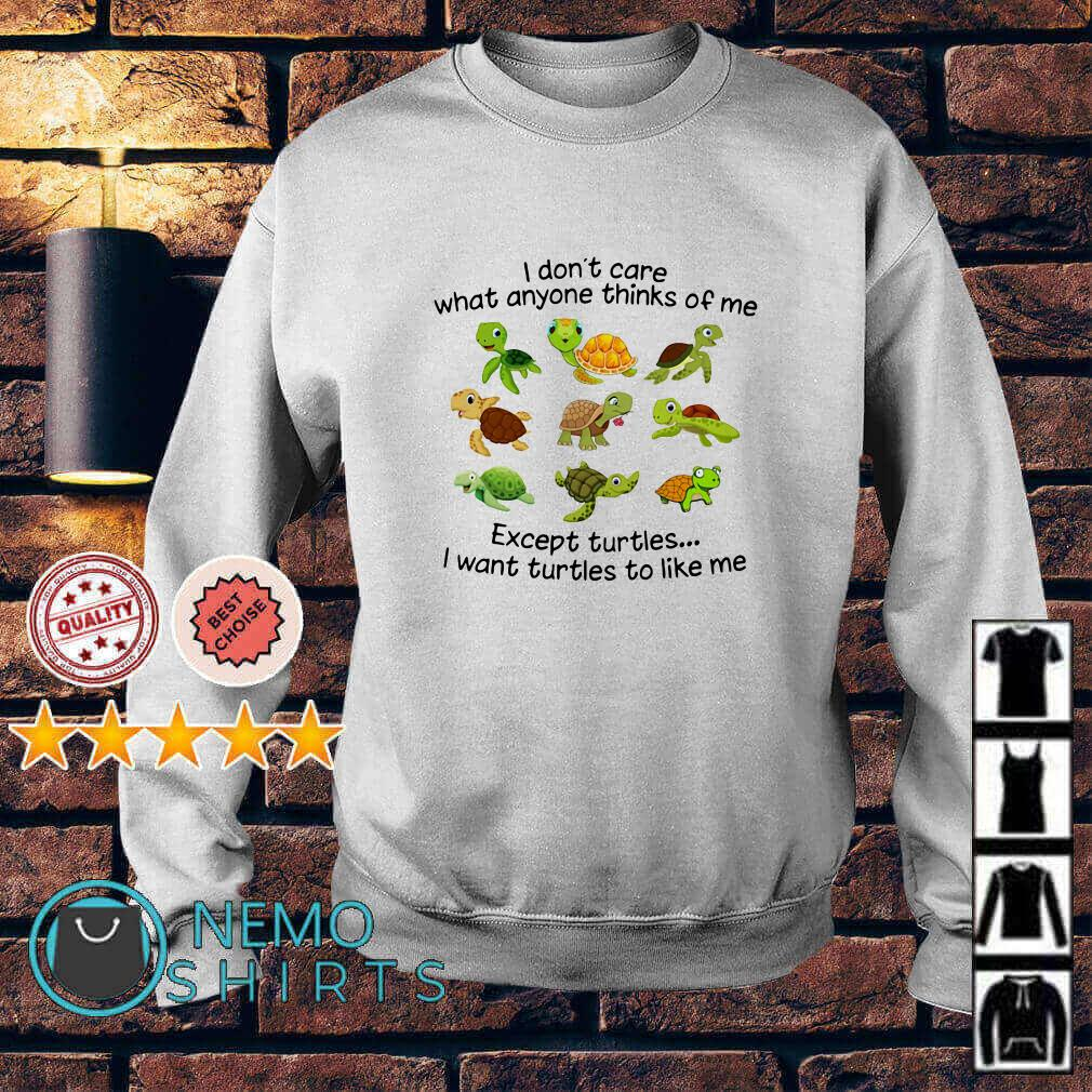 I don't care what anyone thinks of me except turtles I want turtles to like me Sweater