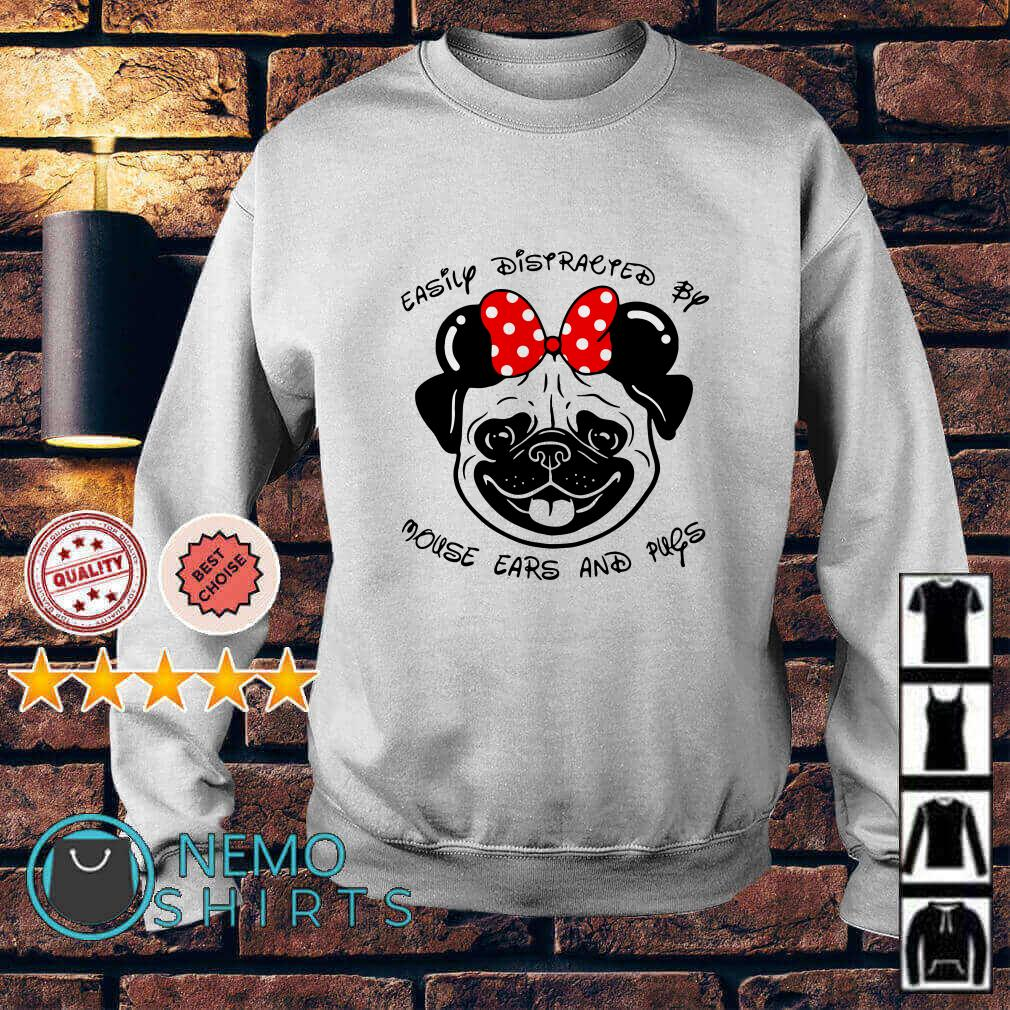 Easily Distracted by mouse ears and pugs Sweater