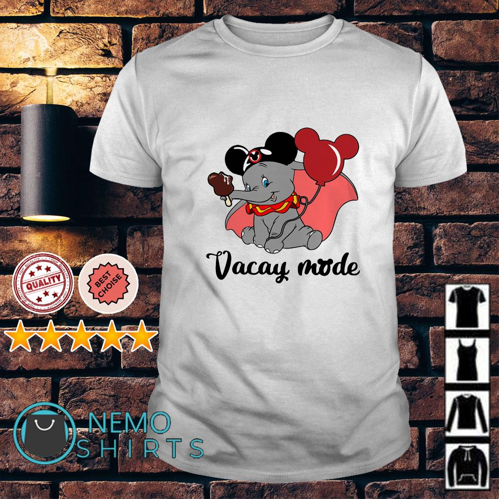 Elephant with Mickey Mouse ears vacay mode shirt