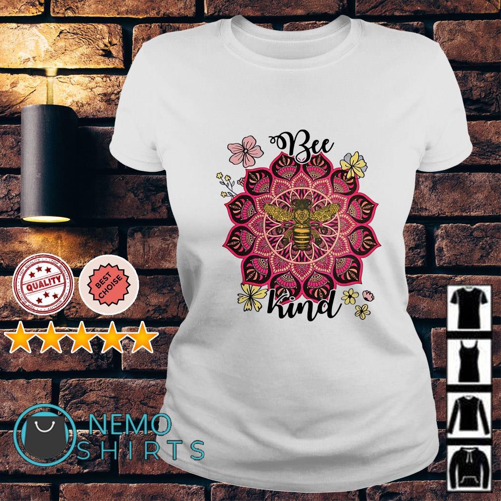 Flower Namaste be kind Ladies tee