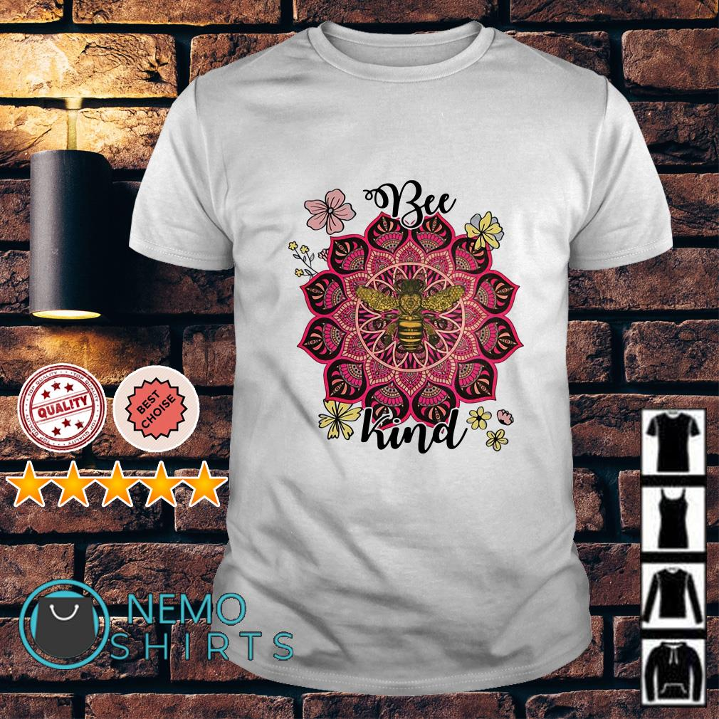 Flower Namaste be kind shirt