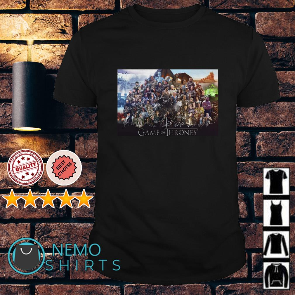 Game Of Thrones all characte signature shirt