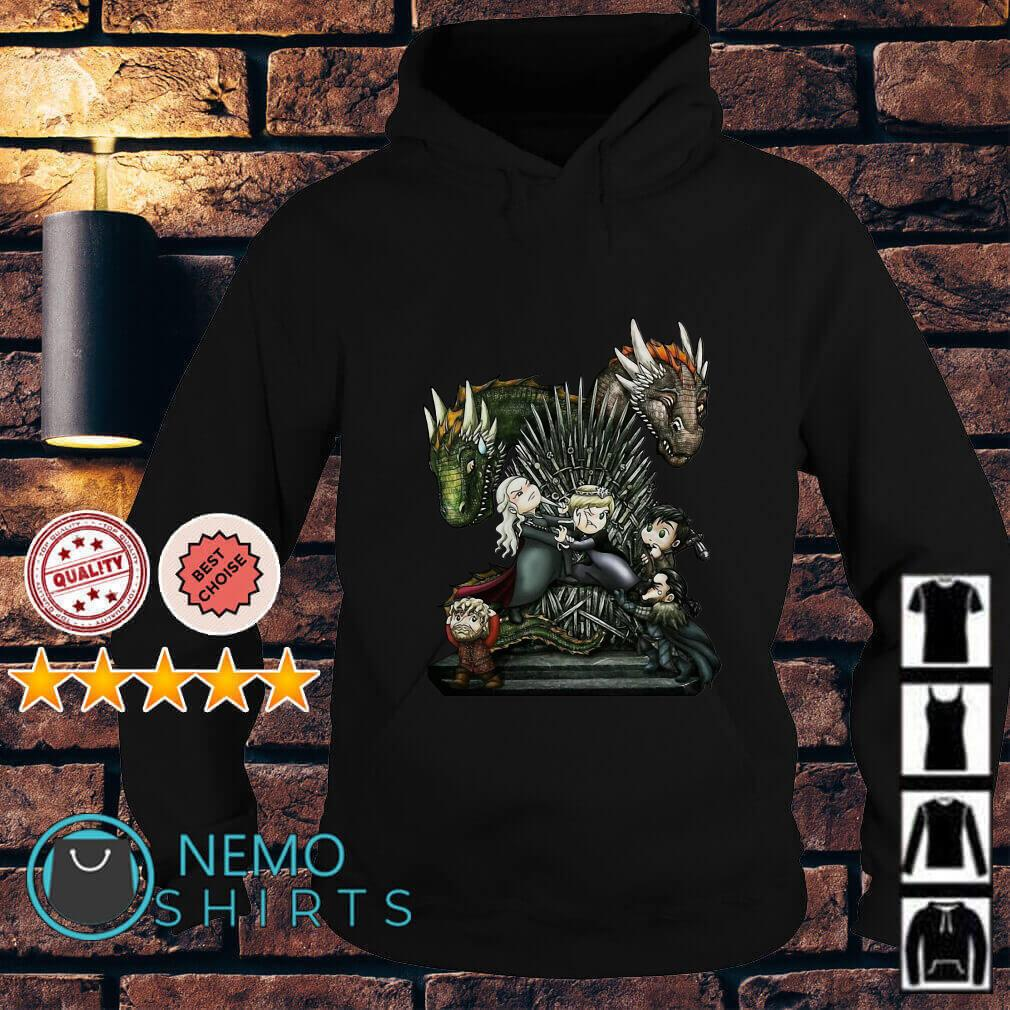 Game of thrones all characters chibi Hoodie