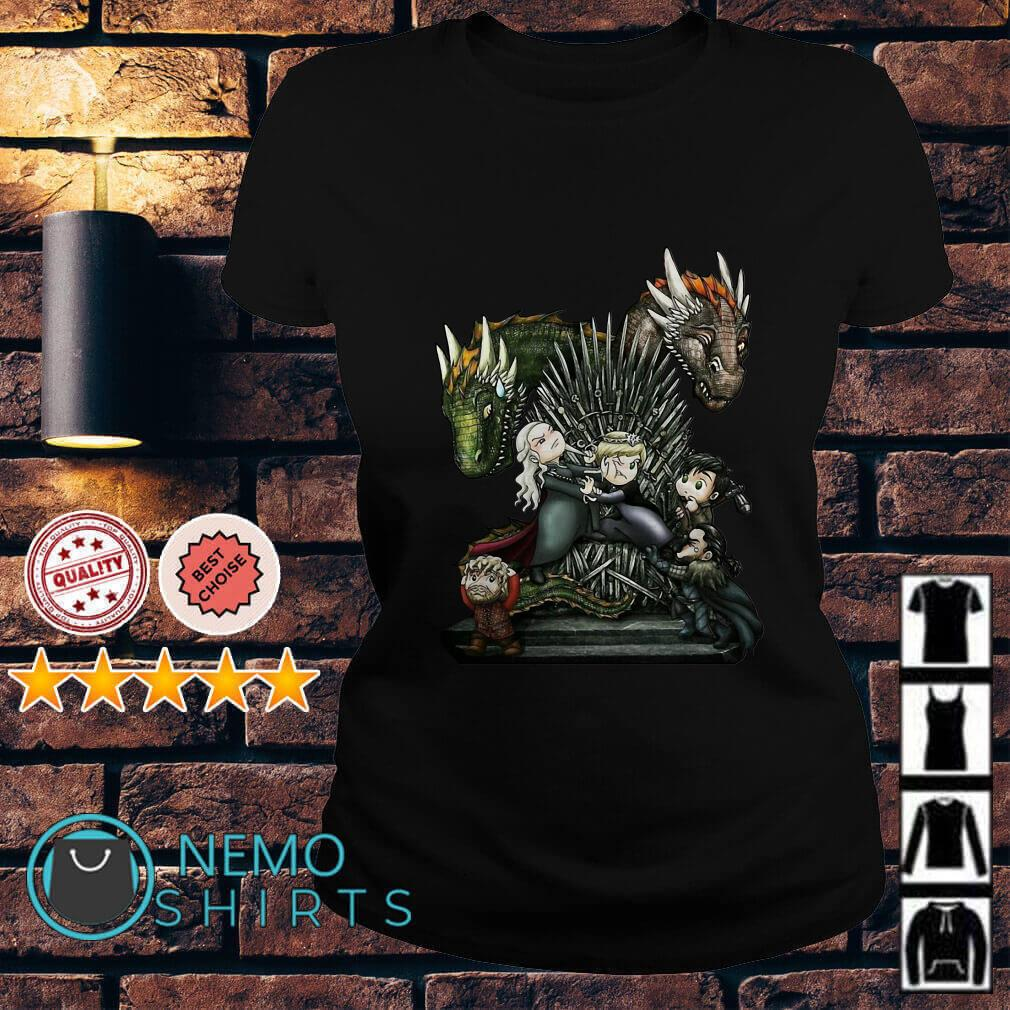 Game of thrones all characters chibi Ladies Tee