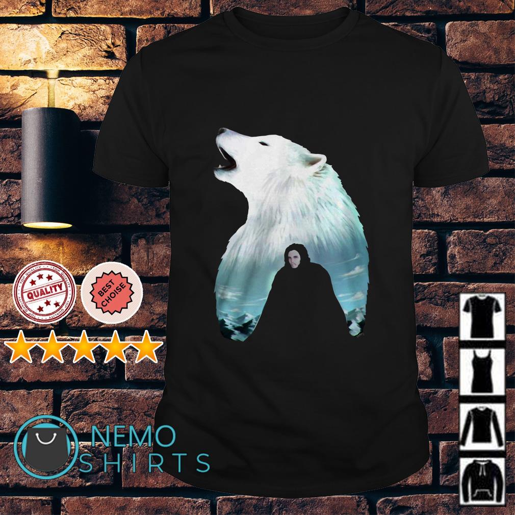 Game Of Thrones Jon Snow wolf shirt