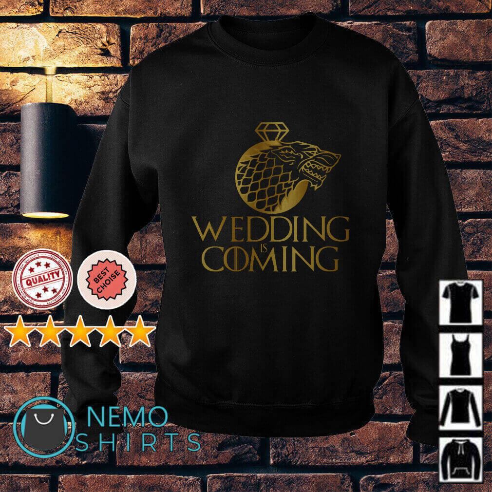 Game of Thrones Stark Wolf wedding is coming Sweater