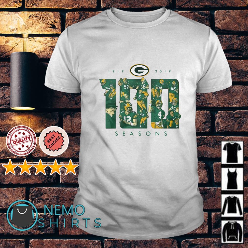 Green Bay Packers 100 seasons 1919-2019 shirt