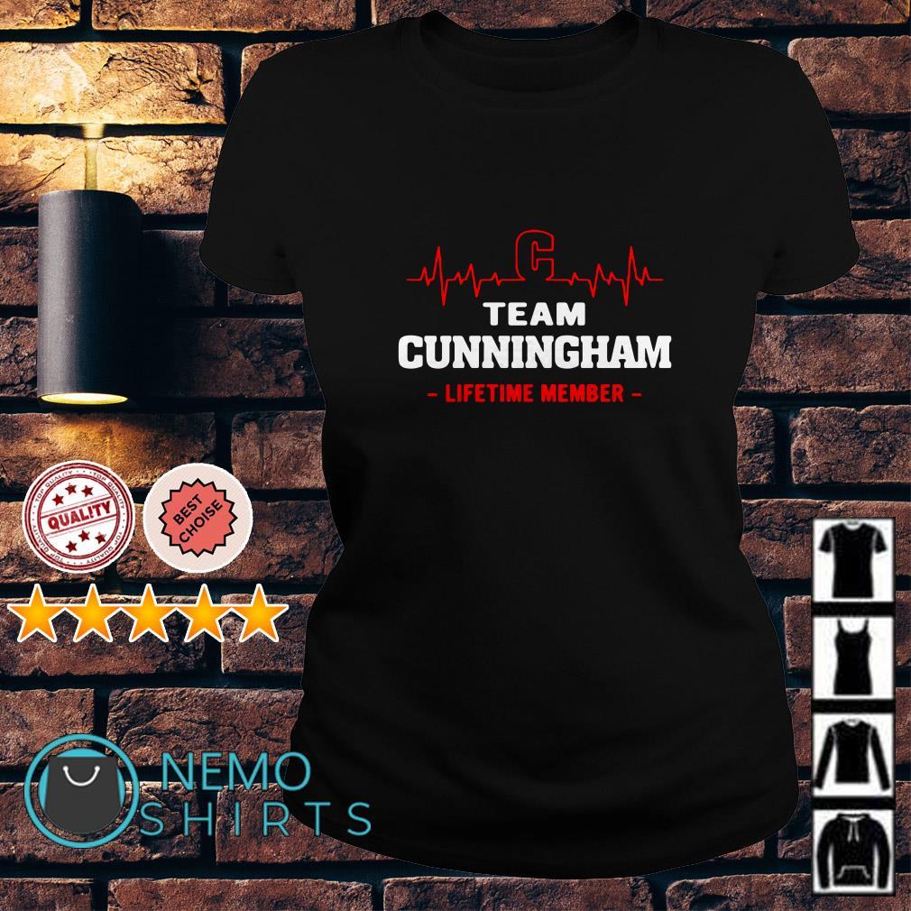 Heartbeat C team Cunningham lifetime member Ladies tee