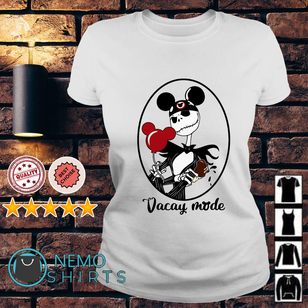 Jack Skellington vacay mode balloon mickey mouse Ladies tee