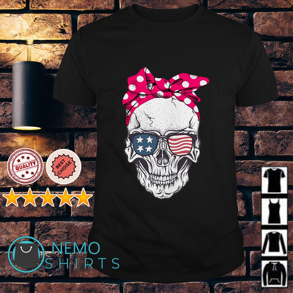 Lady Skull with American Flag Glasses shirt