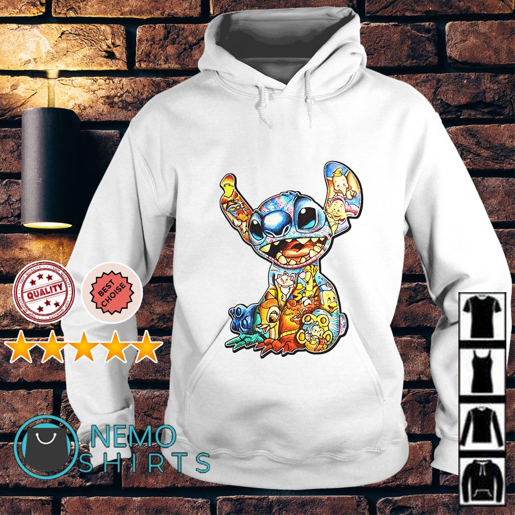 Lilo and Stitch Disney with all Disney characters Hoodie