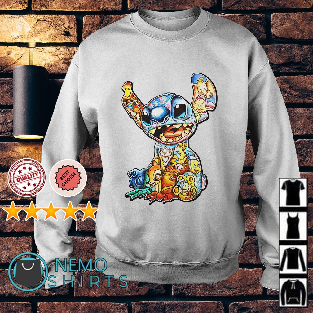 Lilo and Stitch Disney with all Disney characters Sweater